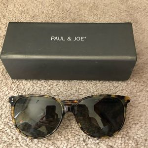Paul & Joe- Flat TopRoundFrame Tortoise Sunglasses